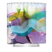 In A Mood Shower Curtain