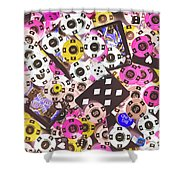 In Casino Colors Shower Curtain