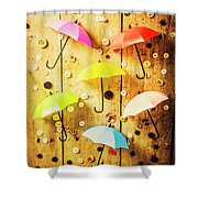 In Rainy Fashion Shower Curtain