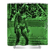 In The Green Zone Shower Curtain