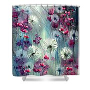 In The Night Garden - Pink Buds  Shower Curtain
