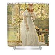 In The Walled Garden, 1869 Shower Curtain