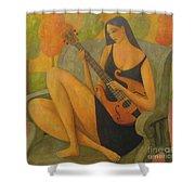 Incidental Music Shower Curtain