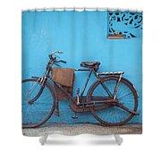 Indian Bike Shower Curtain