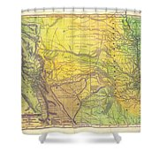 Indian Territory Tribal Map Northern Texas Shower Curtain