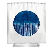 Indigo Moon- Art By Linda Woods Shower Curtain