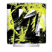 Industrial Abstract Painting II Shower Curtain