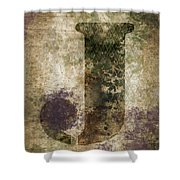 Industrial Letter J Shower Curtain