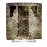 Industrial Letter T Shower Curtain