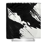 Ink Wave 2- Art By Linda Woods Shower Curtain