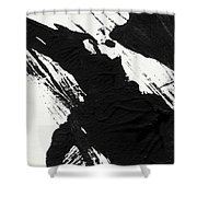 Ink Wave 3- Art By Linda Woods Shower Curtain