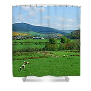 Innerleithen And Tweed Valley Looking East Shower Curtain