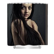 Innocent Young Woman Shower Curtain