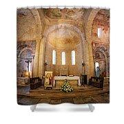Inside The Basilica Shower Curtain by Tom Singleton