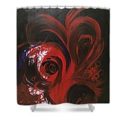 Intense Red#1 Shower Curtain