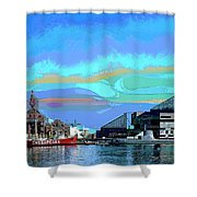 Inter Harbor Baltimore Shower Curtain