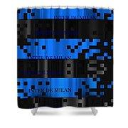 Inter Milan Pixels Shower Curtain