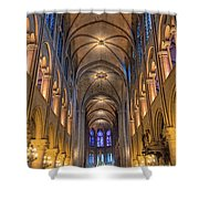 Interior Of Notre Dame De Paris Shower Curtain