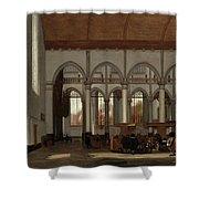 Interior Of The Oude Kerk  Amsterdam  Shower Curtain