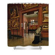 Interior View Of The Metropolitan Museum Of Art When In Fourteenth Street  Shower Curtain