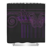 Ionic Capital Diagonal View Cropped 1 Shower Curtain