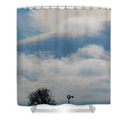 Iridescent Clouds 03 Shower Curtain by Rob Graham