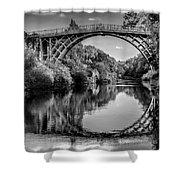 Iron Bridge Shropshire  Shower Curtain by Adrian Evans