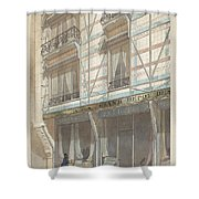 Iron Frame House With Glazed Earthenware  Shower Curtain