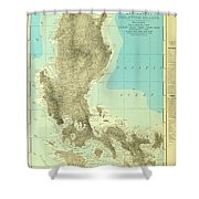 Island Of Luzon - Old Cartographic Map - Antique Maps Shower Curtain