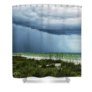 Island Rain Shower Curtain