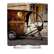Italian Delivery Shower Curtain