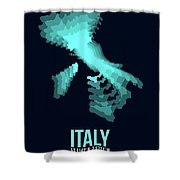 Italy Radiant Map 1 Shower Curtain