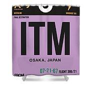 Itm Osaka Luggage Tag I Shower Curtain