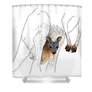 J Is For Joey Shower Curtain