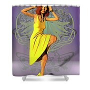 Jacinta In Yellow Shower Curtain