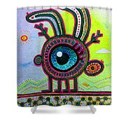 Jackalope Shower Curtain
