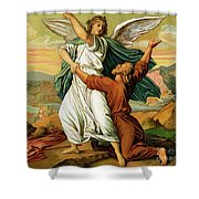 Jacob Wrestiling With The Angel  Shower Curtain