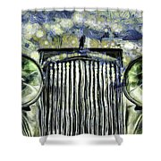 Jaguar Car Van Gogh Shower Curtain