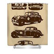 Jaguar Mark Iv Ss 2.5 Saloon Shower Curtain