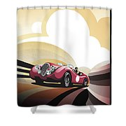 Jaguar Xk 120 Shower Curtain by Sassan Filsoof