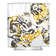 James Connor Pittsburgh Steelers Pixel Art 3 Shower Curtain