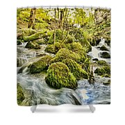 Janet's Foss Flow  Shower Curtain