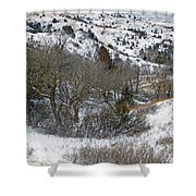 January Badlands Shower Curtain by Cris Fulton
