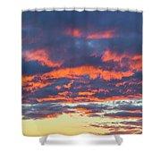 January Sunset - Vertirama 3 Shower Curtain
