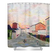 Japanese Colorful And Spiritual Nuance Of Maurice Utrillo Shower Curtain