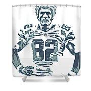 Jason Witten Dallas Cowboys Pixel Art 22 Shower Curtain