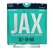 Jax Jacksonville Luggage Tag II Shower Curtain