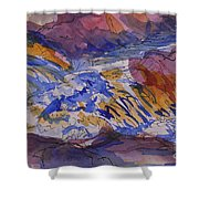 Jay Cooke Favorite Spot In Purple And Tan Shower Curtain