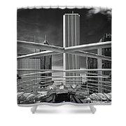 Jay Pritzker Pavilion Infrared Shower Curtain