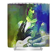 Jeff Beck, Love Is Green Shower Curtain